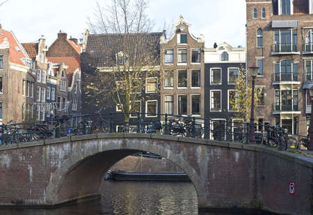 Traditional Canal houses in Amsterdam, Netherlands photo
