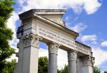 Ancient facade at Villa Borgheses, Rome, Italy photo