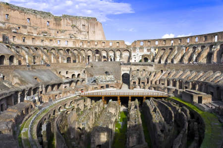 Inside the Coliseum of Rome Italy Stock Photo - 7974190