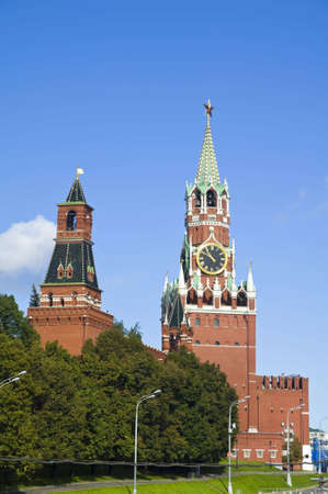spasskaya: Spasskaya tower of Moscow Kremlin Russia Stock Photo