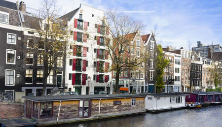 Traditional Canal houses in Amsterdam, Netherlands Stock Photo - 9329094