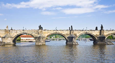 View of the Charles Bridge in Prague, Czech Republic photo