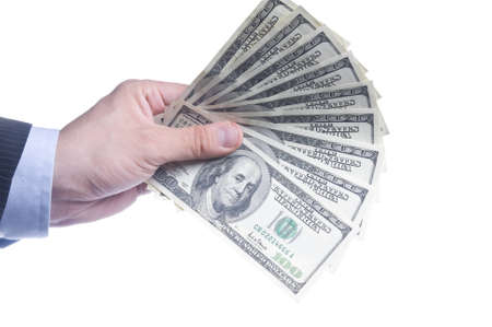 Man s hand with dollars Stock Photo - 14826409