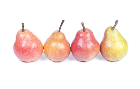 Four Pears Isolated Over White Background photo