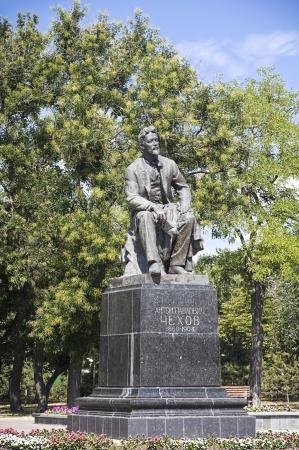 prose: Monument of Anton Chekhov in Taganrog, Russian Federation