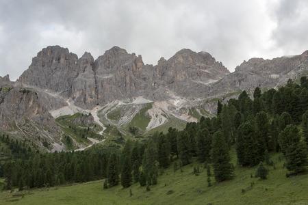 rosengarten: Catinaccio Rosengarten - Dolomites Dolomiti mountains (Italy) Stock Photo
