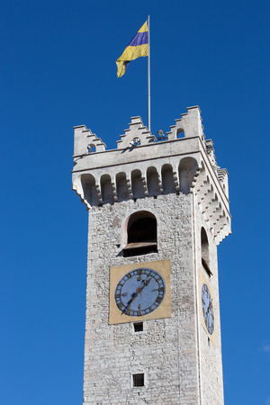 civic: Civic Tower of Trent - Italy Stock Photo