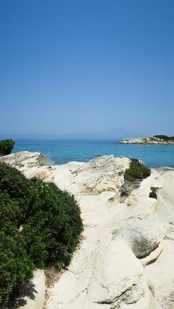 Karidi beach of vourvourou in greece