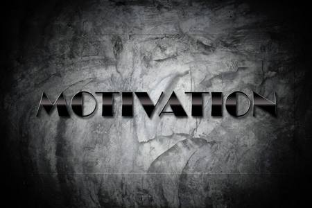 attain: Motivation Concept -Motivation sign on old cement black wall