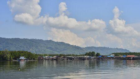 phangnga: Fisherman village on the beach, Phang-nga Thailand
