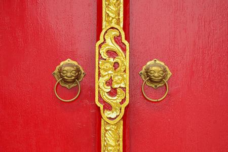 bronz: Chinese style door Stock Photo