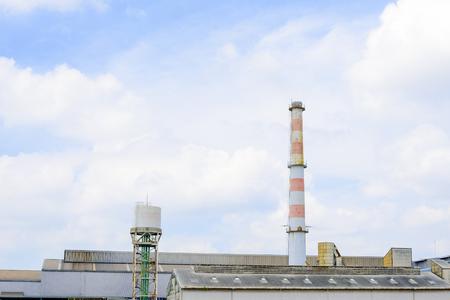 smokestack: smokestack in heavy factory near eastern of Thailand