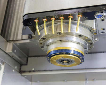 the spindle of Computer Numerical Control or CNC machine Standard-Bild