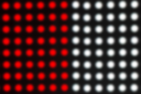 led display: blur of red and white LED display background