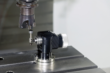 machine tool: CNC machine spindle with tool automatic tool length measurement