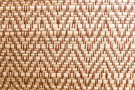 rattan mat: close-up of the weave mat texture