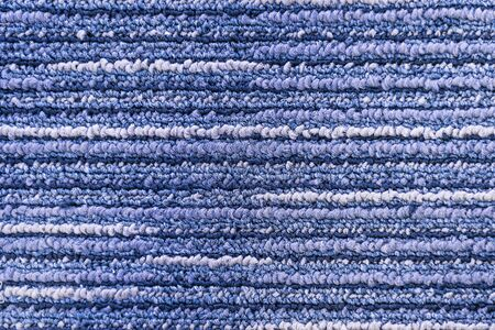 blue carpet: the texture background of the carpet.The blue carpet texture background. Stock Photo