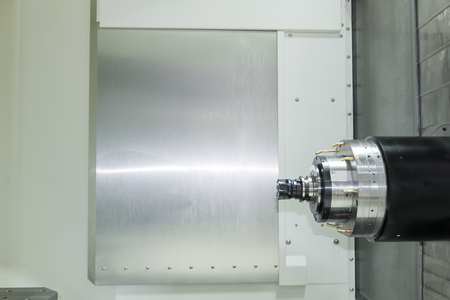 milling center: The horizontal CNCs machining center.The CNC machine cutting in horizontal axis