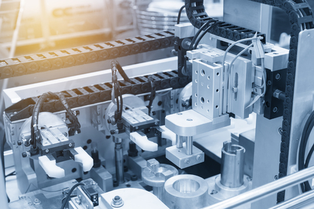 The pneumatic production machine.New manufacturing process. 스톡 콘텐츠