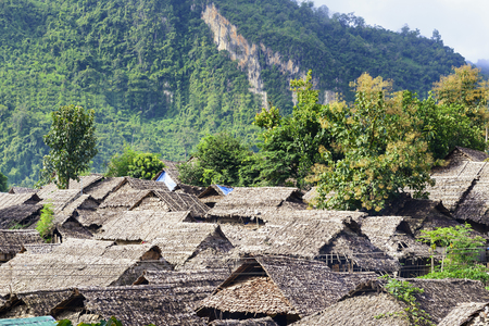 The refugee village in the north border of Thailand.