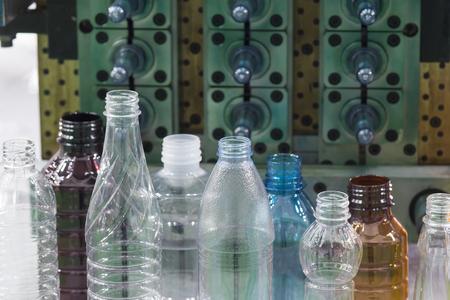 colored bottle: The sample of plastic bottle.Plastic bottle container product.Plastic bottle manufacturing concept.
