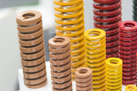 The various size industrial coil spring  .The  coil spring for industrial purpose Stock Photo