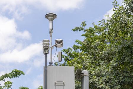 Die Verschmutzungsdetektorsystemstation im Park.