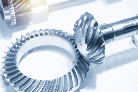 The assembly of differential gear parts.The transmission parts of automobile.