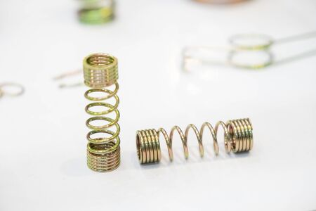 The wire coil spring parts for industrial purpose. The sample of coating coil spring for anti corrosion purpose.