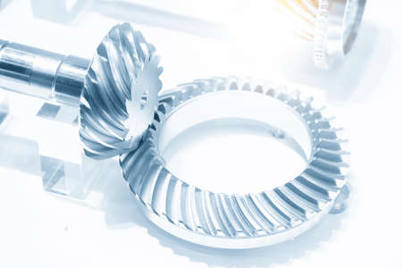 The close-up scene of differential gear part.  The automotive transmission concept . 版權商用圖片