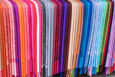 Rainbow of Scarves photo