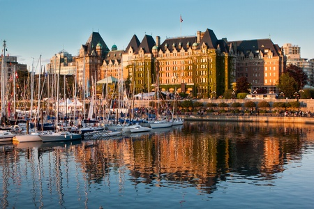 british columbia: A busy sunset in Victoria, BC, Canada