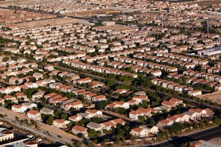Aerial View of Las Vegas Suburb