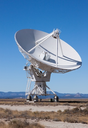 satellite in space: Large Radio Satellite Dish used for communications Stock Photo