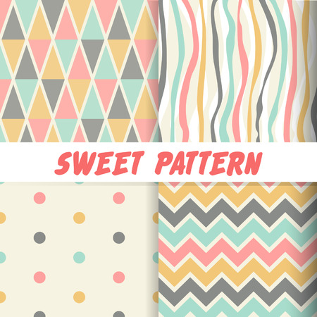 seamless sweet pattern background Illustration