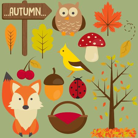 Vector Set of autumn.collection Vector
