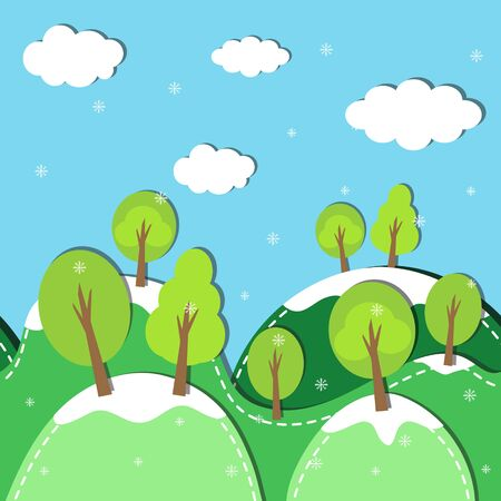 winter forest: Winter forest seamless pattern. Vector Background. Illustration