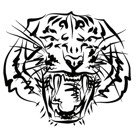 tiger painting Stock Photo - 14348105