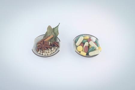 The scene is interesting, many medicines. Stock Photo
