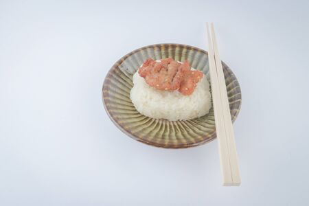 asian foods: Asian foods baked pork and sticky rice