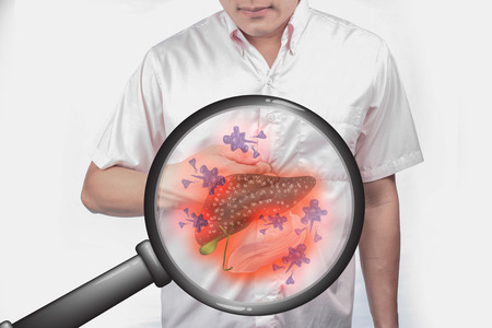 Body disease and cancer.Use a magnifying glass concept to add interest.