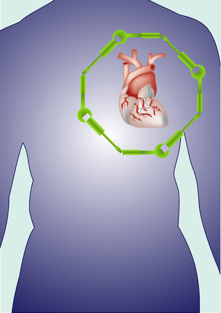 Visceral rehabilitation treatment.Organ regeneration concept.