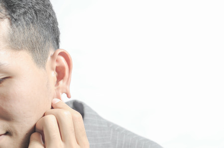 The man Missing ear,Scars from being attacked