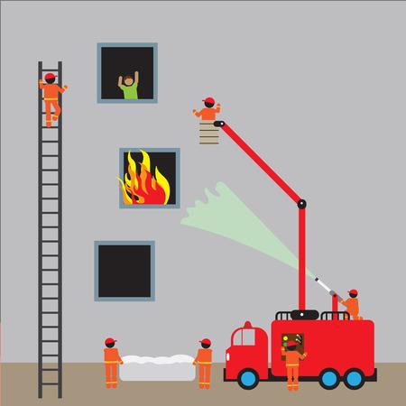 fiery: Fire engine, firefighting.