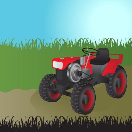 Agricultural tractor, transport for farm.