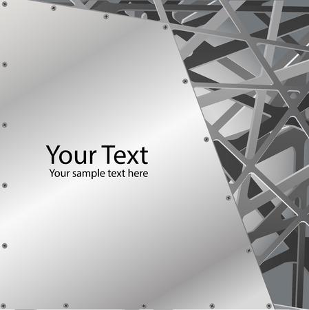 Metallischer Grill mit Rost Chrom Kanten Abstract Background Stil, Vektor-Illustration. Standard-Bild - 80046861