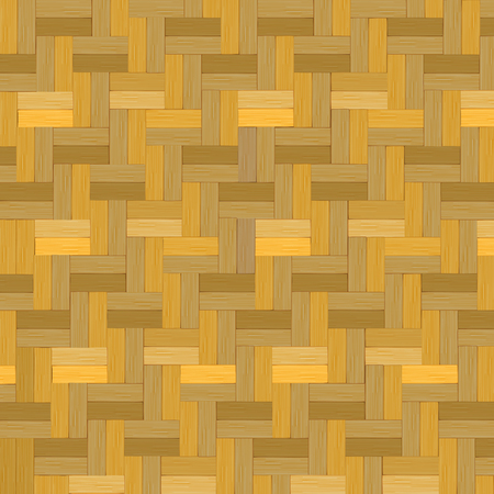 Wooden weave, Bamboo basket texture background vector illustration. Ilustrace