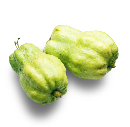 Guava fruit isolated on white background. with clipping path.