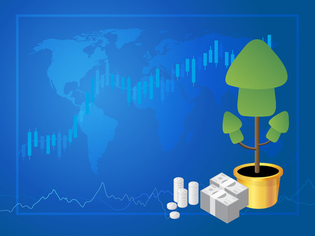 Forex marke trading, Stock Market Investment vector illustration. Reklamní fotografie - 84710715