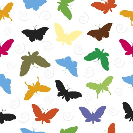 Butterfly Pattern Seamless  background vector illustration. Ilustrace